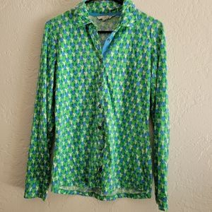 Boden Button up Top Size 8